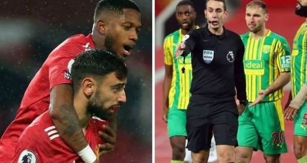 Liverpool fans fume at David Coote after referee overturns penalty decision for Man Utd